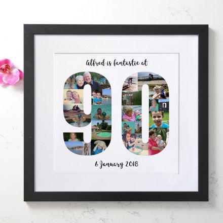 Personalised 90th Birthday Photo Collage